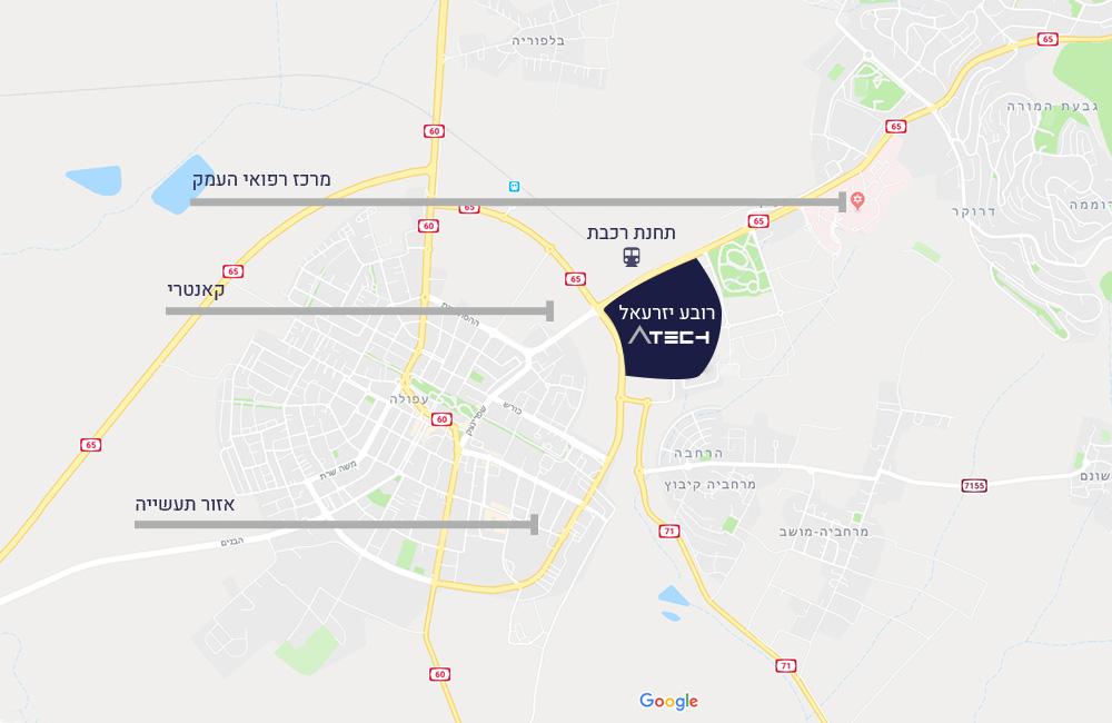 מפת מיקום פארק Atech